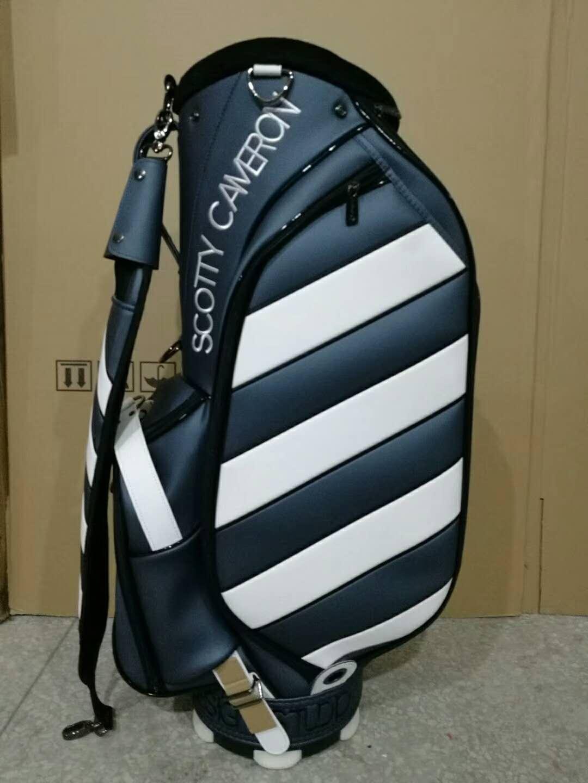 Scotty Cameron Caution Stripe Sunshine Grey/White Golf Club Bags