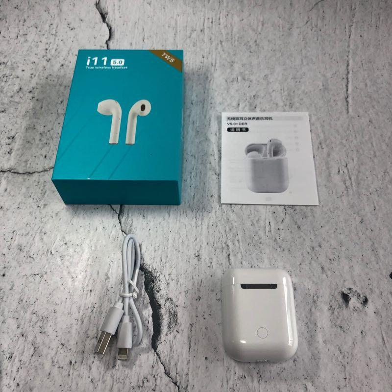 Mini i11 TWS Wireless HeadphonesAirPods BT 5.0 in-Ear Earphones with True Stereo Earbud