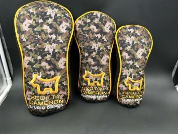 Scotty Cameron camo bulldog headcover set