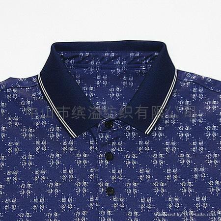 双丝光棉印花T恤 1