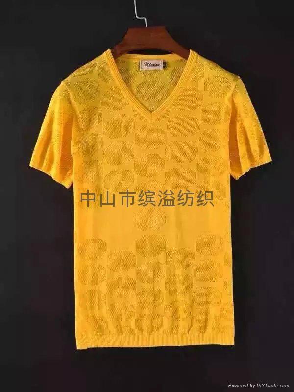 丝光棉T恤提花T恤 1