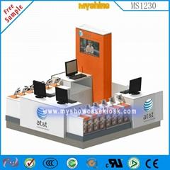 免费设计可定制手机展示柜出售