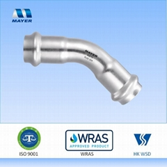 Stainless Steel Elbow 45 degrees pipe fitting