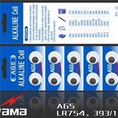 AG5 Alkaline Button Cell Battery