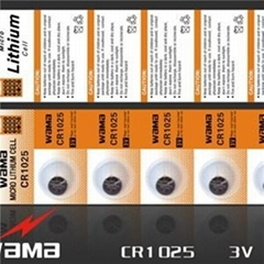 CR1025 Lithium Button Cell Battery