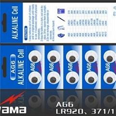 AG6 Alkaline Button Cell Battery