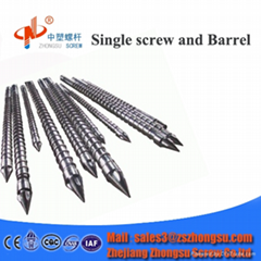 single barrel screw for Injection blow molding machine for plas