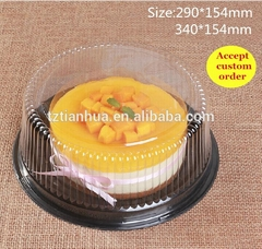 Plastic Clear Disposable Round Cake Container Box