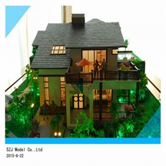 High Quality Scale model for villa architecture house model with model tree