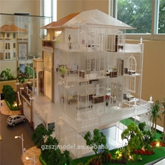 Building Supplies With Miniatura Garden Scale Model with 3D Rendering