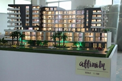 Customized scale residential house model , architectural 3d maquette for real es