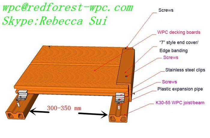 China wood-like hollow board wpc decking laminate flooring 2