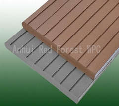 composite wood laminated wpc flooring with new decking design