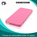 Innovation design retractable power bank for mobile phone battery charger