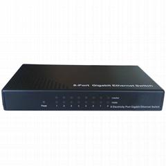 latest technology SOHO 8 gigabit RJ45 copper ports gigabit ethernet switch