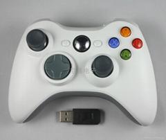 Xbox360無線2.4G手柄配接收器支持PS3安卓PC手柄雙震動
