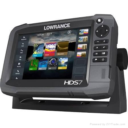 Lowrance HDS-7 Gen3 Insight USA with 83/200 khz Transom Mount Transducer 1