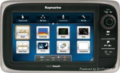 "Raymarine E7 Sonar & GPS Unit Combo, 7"" 1"