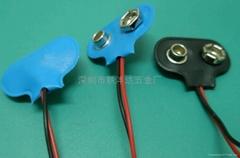 9V軟皮電池扣(電池扣)