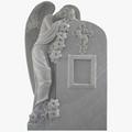 White Marble Weeping Angel Tombstones