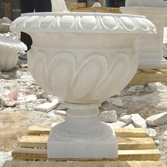 Marble Sculpture Granite Flowerpot Sculpture