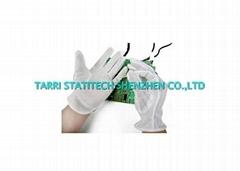 Non Slip Anti Static Gloves ESD Dotted Glove Lightweight 10mm Strip Line
