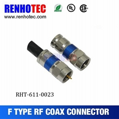high performance male plug f compression rg6 cable connector