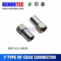 male f connector 75 ohm connector electrical terminal for coaxial cable