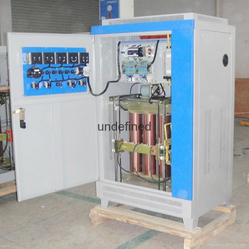 爱克赛SBW-100KVA三相全自动补偿式大功率电力柱式稳压器柜 100KW 2