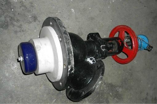 Glass-lined Bottom flush valve with temperature sensor