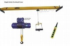 Electric Single Girder Hoist Crane, Overhead Crane