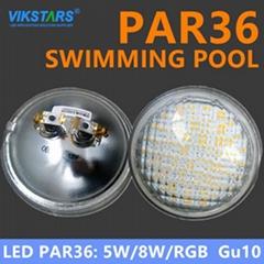 Waterproof 12v Par36 led light gu10 for swimming pool