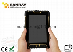 Tablet RFID PDA Reader uhf Rfid Solution 840-960 MHZ Frequency And 2GB RAM