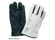 Cowhide Full Leather protective hand driver leather gloves