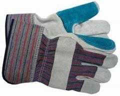 Split Cow Leather Gloves Mechanic Work Gloves
