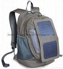 Green energy product Backpack with solar panel charger for IPAD etc. 44