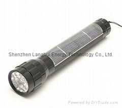 Solar Power Product Aluminium 7-LED Torch Light Green Energy 048-0