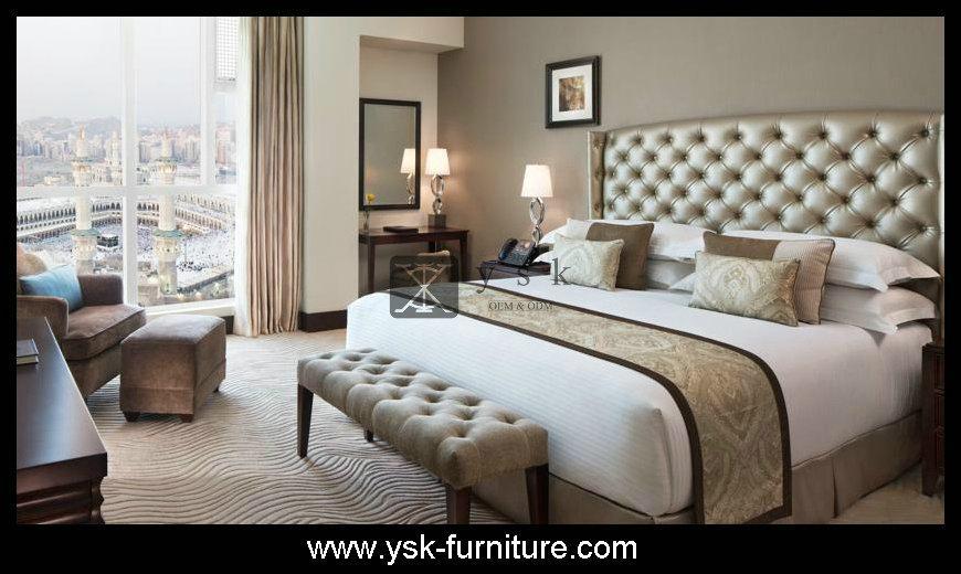 Deluxe Hotel Wooden Bedroom Sets Design Model 1