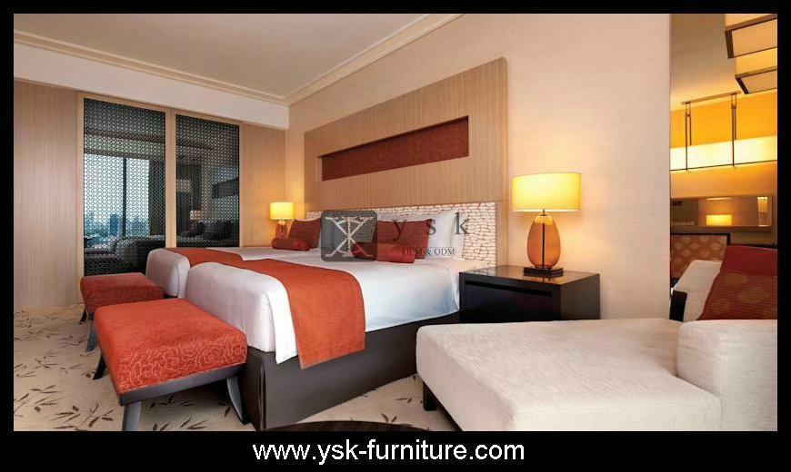Deluxe Hotel Wooden Bedroom Sets Design Model 5