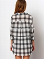 2016 latest casual long sleeve grid latest fashion blouse design for women 4