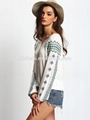 2016 spring latest white vintage print loose lady blouse & top 4