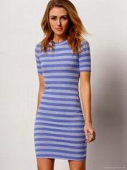 short sleeve stripe bodycon dresses for women elegant 2016 office style