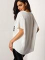2016 short batwing sleeve western simple loose casual blouse ladies 2
