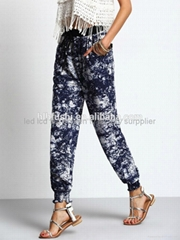 hip hop clothing camouflage fashion casual long jogger pants women