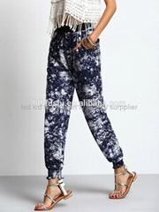 hip hop clothing camouflage fashion casual long jogger pants women