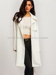 apparel woman ladies 2016 spring fall plain dress style ladies long coat