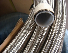 SAE 100 R14 Ss304 Ss316 Stainless Steel Braided Teflon Hose