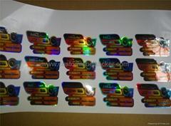 Custom Waterproof Hologram Sticker Label