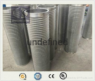 wedge wire screen reverse roll filter tube 1