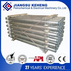 Welding studded tube for boiler parts